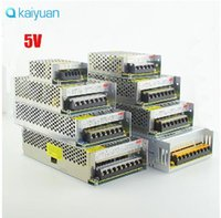 Wholesale Driver Led 3528 2a - LED Power Supply DC 5V 2A 3A 5a 6A 10A 12A 20A 30A 40A 60A Switch Lighting Transformers LED Driver For 3528 5050 RGB Power Adapter CE ROHS