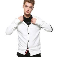 ingrosso maglione metrosexual-Wholesale- New England uomini maglione Istituto frangia del vento Metrosexual moda maglia maglione cardigan