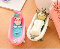 Wholesale Soap Storage - Cute Cartoon Bathroom Kitchen Storage Soap Holder Box Moulds Cat Beer Soap Dishes Boat Shape Organizer Holders For Kitchen