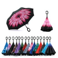 Wholesale Best sells car inverted umbrellas for ideal gift umbrella with colorful image car promotion umbrella Advertisement umbrellas