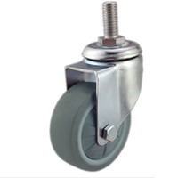Wholesale 3 quot Swivel Caster Degree Rotation M12 High Elastic Casters Wheels PP TPE Ball Bearing Wheel