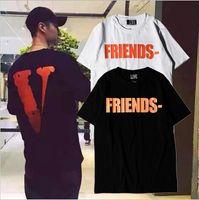 Wholesale Women S Formal Shirts - Vlone FRIENDS Summer Men Women T shirts 2017 New Arrive Kanye West Sashion Hip Hop VLONE OFF White T-shirt 100%Cotton Tee