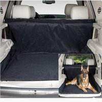 Wholesale waterproof oxford Pet Dog Cat Back Seat Cover mat cushion car boot pet seat Mat Blanket Cover Travel for SUV