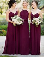 Wholesale Free Chinese Images - Hot Sale Purple Sexy Chiffon Bridesmaid Gowns Spathetti $69 Chinese Cheap Wedding Guest Wear Maid Of Bridesmaid dresses Free Shipping