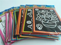 Wholesale Magic Color Scratch Paper - earning Education Drawing Toys 20pcs lot 13*9.5cm Two-in-one Magic Color Scratch Art Paper Coloring Cards Scraping Drawing Toys for Child...