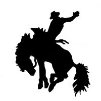 Wholesale Riders Cars - Wholesale 20pcs lot Automobile and Motorcycle with Products Vinyl Decal Car Stickers Glass Stickers Scratches Jdm Rodeo Bronco Rider Horse