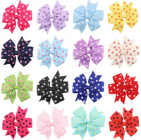 Wholesale Hair Bow Order - Brand new Children wave point swallowtail bow hairpin baby hairpin baby hair ornaments headdress FJ115 mix order 60 pieces a lot