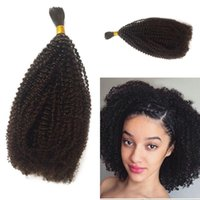 Wholesale 26 afro kinky human braiding hair for sale - Group buy Human Braiding Hair Bulk No Attachment Peruvian Afro Kinky Curly Crochet Braids Piece Natural Black Bulk Hair Eatensions G EASY
