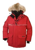 Wholesale Parka Men Big Fur - Hot sell Brand New Men's jacket Down EXPEDITION PARKA Jackets Mens hooded fur collar jacket coat thick warm High quality Big size