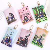 Wholesale Designer Case For Cell - South korean designer key case coin purse mini card holder key bags cute Characters girl small coin bag for women girl 0938A