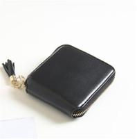 Wholesale Bit Coins - New zipper wallet female short paragraph simple lady wallet tassel multi - card bit zero purse
