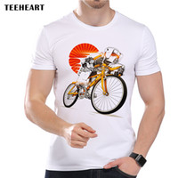 Wholesale Imperial Crystal - TEEHEART Men's Imperial Stormtrooper on Bicycle Print T-Shirt Cool Summer Modal Movie Hipster Top Tees la348