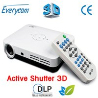 Wholesale dlp shutter 3d - Wholesale-2016 New arrival ! 3500 lumens LUXCINE Z2 full HD 1080p mini LED DLP Active Shutter 3D DLP proyector with 2*HDMI VGA USB TF AV