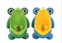Wholesale Frog Shapes - Frog Shaped Boys Stand Vertical Urinal Wall-Mounted Potty Toilet Training Kids Urinal Baby Children PP Trainer Bathroom