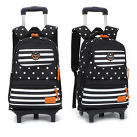 Wholesale Draw Bar Box Travelling Bag - Fashion Designer Brand Primary Elementary Girls 2 6 Wheeled Trolley School Bags Draw-Bar Box Suitcase Backpack Mochila Kids Boys Travel lugg