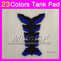 Wholesale Honda Cbr Gas Tank Protectors - 23Colors 3D Carbon Fiber Gas Tank Pad Protector For HONDA CBR250RR 88 89 MC19 CBR250 RR CBR 250RR CBR 250 RR 1988 1989 3D Tank Cap Sticker