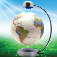 Wholesale Electronics World - 8 Inch Electronic Magnetic Levitation Floating Globe World Map with LED Lights for Boyfriend Christmas Gift Home Decoration