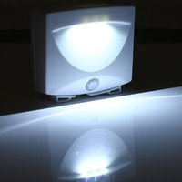 Wholesale Motion Activated Sounds - Wholesale- 1 Pcs White LED Motion Sensor Activated Night Light Indoor & Outdoor Sound Controlled Lamp