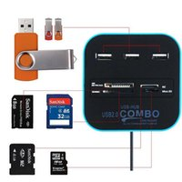 All In One Combo 3 porte HUB + lettore di schede di memoria USB 2.0 per SD / MMC / M2 / MS / MP Pro Duo