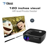 Wholesale Tv Projectors For Sale - Wholesale-Hot sale! Hot sale New AUN AM01 Exquizon GP70 Portable Pocket LED Projector 1200Lumens Support 1920x1080P Analog TV For Home Cin