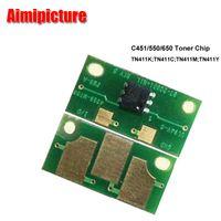 Wholesale Konica Minolta Toner Wholesale - C451 C550 C650 toner Chip Photocopier reset chip For Konica Minolta bizhub TN411 TN611 K C M Y Toner Cartridge Chip