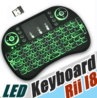 Wholesale Multifunction Keyboard - Rii I8 Fly Air Mouse 2.4G Colorful Backlit Wireless Touchpad Keyboard Multifunction For PC Pad Android TV Box MXQ V88 X96 A-FS