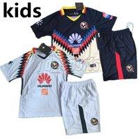 Wholesale White Child Suits - 2017-18 Club America Kids Kit Futbol Camisa Suit Children Set O.Peralta S.Romero Soccer Jerseys Football Camisetas Shirt Maillot Liga MX