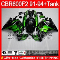 Wholesale 92 Honda F2 - gloss black 8 Gifts 23 Colors For HONDA CBR600F2 91 92 93 94 CBR600RR FS 1HM28 CBR 600F2 600 F2 CBR600 F2 1991 1992 1993 1994 green Fairing