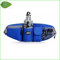 Wholesale Panniers Road Bike - Wholesale-WF04 Sports Waist Bag Men Women Pack Outdoor Water Bottle Belt Bag Running Hiking Cycling Pannier Road Bike Ride Waist Bags