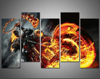 Wholesale Rider Pc - Unframed 5 Pcs Modern Paintings Canvas Wall Art For Living Room the Lord Ghost Rider Oil Painting Printed in Canvas Beautifull Pictures
