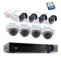 système de sécurité extérieur de dôme achat en gros de-Kit de surveillance 8CT 1080p CCTV Security System 2.0MP VandalProof Dôme Intérieur Extérieur Étanche Kit de Surveillance Caméra