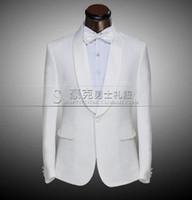 ropa de talla más al por mayor-Escenario blanco negro para hombre traje conjunto con pantalones trajes para hombre novio de la boda vestido formal traje + pant + corbata más el tamaño 4XL