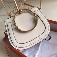 Wholesale ladies genuine cow leather handbag resale online - Hot sale women genuine leather High Quality handbag lady real leather crossbody bag cow leather shoulder bag