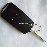 chrysler için anahtar kabuk toptan satış-YENI Modifiye Çevirme Katlanır Anahtar Kabuk için CHRYSLER Jeep Pusula Wrangler Patriot Uzaktan Anahtar Kutu Fob 2 Botton
