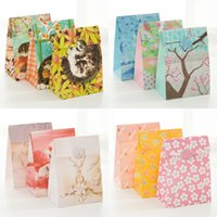 Wholesale Graffiti Papers - Wholesale-(3 pieces lot) Fresh Graffiti Paper Bag Gift Flower Packaging Bag Wedding Christmas Gift Bag