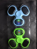 Wholesale Cool Toys For Big Kids - Supology Anti Stress Cool Fidget Spinner Bluetooth Speaker LED EDC Toys Hand Spinner Tri Spinners For Autism and ADHD Kids