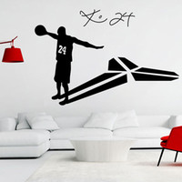 cartel de la pared para las niñas al por mayor-Basket Player Pegatinas de pared Sala de estar Dormitorio Arte de la pared Cartel mural Niños Niñas Adolescentes Habitación Baloncesto Ventilador Home Decor Wallpaper Wall Graphic