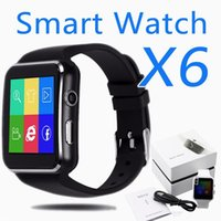 Wholesale Mens Watch Faces Wholesale - X6 Smartwatch Luxury Mens Smart watches Clock Phone Big Face with SIM TF Card Slot with Camera Curved Screen for Samsung LG Sony