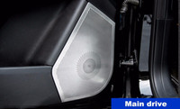 Copertura della copertura della decorazione del telaio dell'altoparlante della porta dell'automobile dell'acciaio inossidabile per le decalcomanie interne dell'automobile di Mercedes Benz ML GLE 4pcs