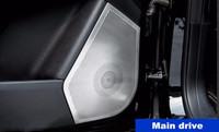 Wholesale car audio frame - Stainless Steel Car Door Audio Speaker Frame Decoration Cover Trim For Mercedes Benz ML GLE Interior Loudspeaker Decals 4pcs