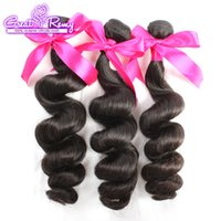 Wholesale Double Outlet - 10A Double Drown Brazilian Peruvian Indian Virgin Human Hair Weave Bundles Top Grade Malaysian Best Quality Loose Wave Way Greatremy Outlets
