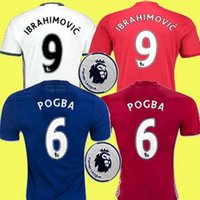 Wholesale AAA Thai red Home rugby Jersey United Rooney MARTIAL IBRAHIMOVIC MEMPHIS POGBA MKHITARYAN away blue Third white rugby men Shirt