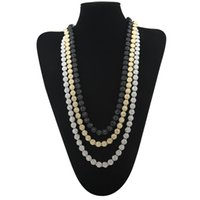 Wholesale Single Rhinestone Necklace - 3 Color High Quality Men's Round Single Row Necklace Hip-hop Gold Plated Full Bling Rhinestons Crystal Hiphop Necklace Link Chain Jewelry