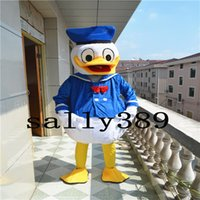 Wholesale Full Size Man Dolls - 2017 new high quality adult animal Don man duck blue halloween stage performance mascot doll costume props costume adult size