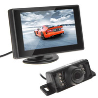 Wholesale rearview backup camera - Waterproof 420TVL 1.8mm 120 Lens Angle CMOS Car Rearview Parking Camera With 4.3 Inch TFT LCD Monitor For Reversing Backup