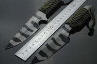 Wholesale Camouflage Paracord - Strider tool Strider-HT small straight knife jungle wild camouflage knife 1pcs