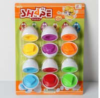 Wholesale Fake Eggs - 2017 new style Intelligent development toy baby toy pairs smart egg wholesale baby twist eggs 6 fake egg toys BY DHL