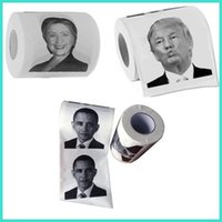 Wholesale Images Drawings - Bathroom Toilet Paper with Donald Trump Hillary Obama Image Printing Toilet Paper with USA President Drawing Donald Paper Party Gag