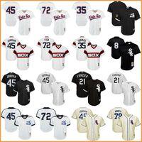 Wholesale Red Sox Jerseys - Men's baseball Chicago White Sox jerseys 79# Michael Jose Abreu #45 Jordan 21# Todd Frazier 35# Frank Thomas 72# Carlton Fisk jersey