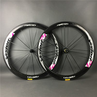 Wholesale Road Bike Race Wheels - 50mm road bike glossy matte full carbon fiber wheels matte surface bicycle racing carbono fibre wheelset,brake pads tyre cushin is available